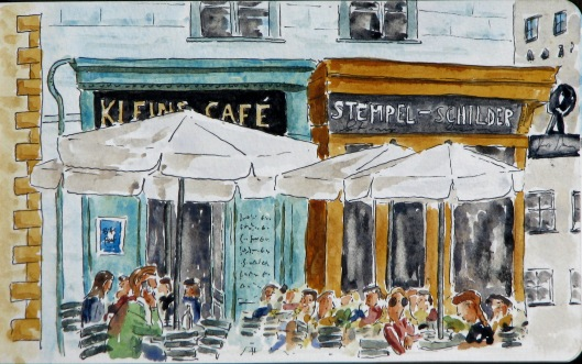 Kleins and Stempel-Schilder cafés in the Franziskanerplatz, Vienna
